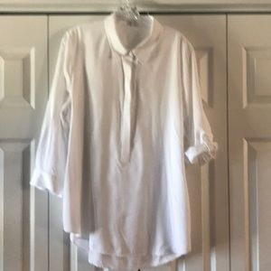 Crown and Ivy White Tunic length  100% lyocell